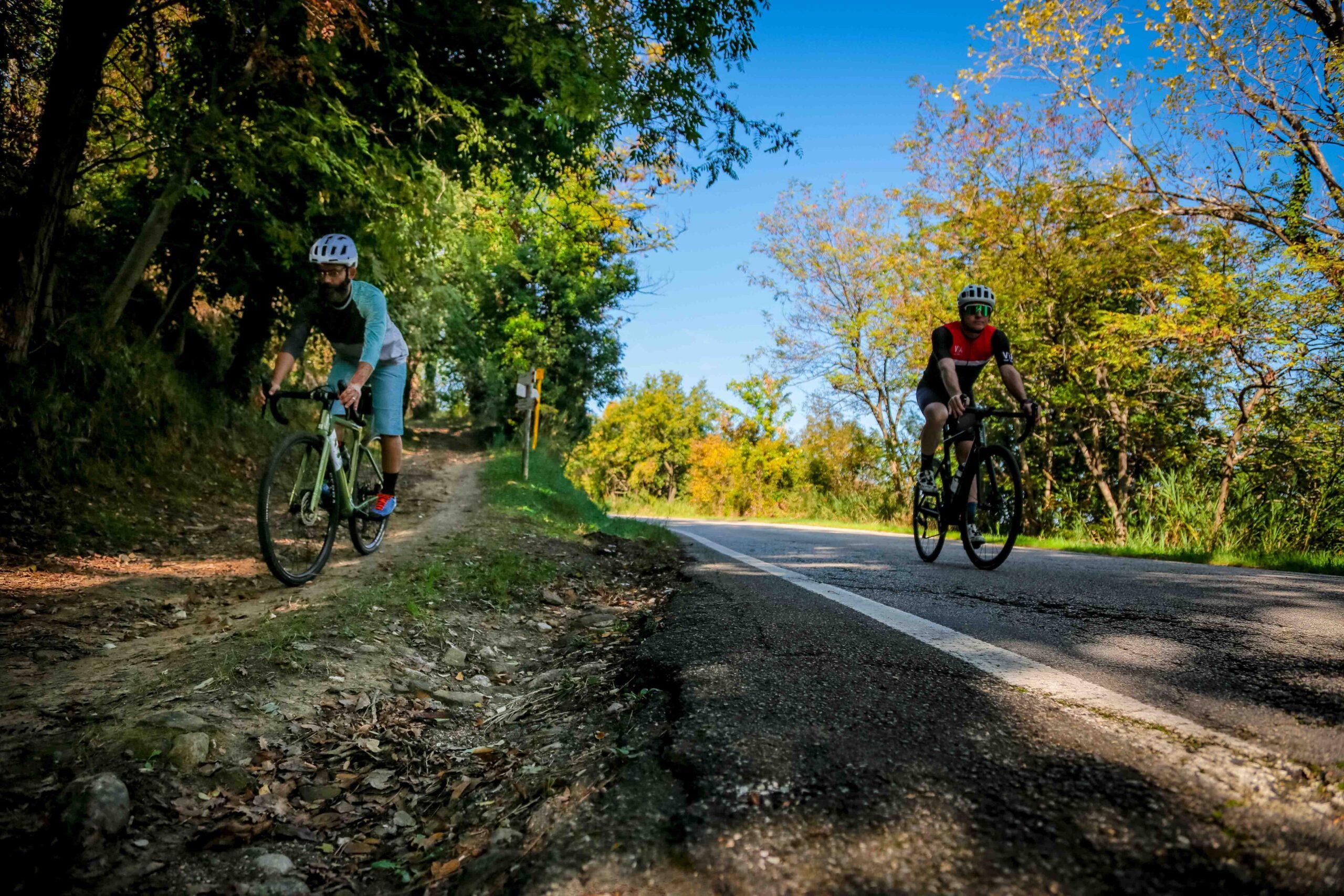 Via Panoramica 3T Gravel Bike versus Road Bike
